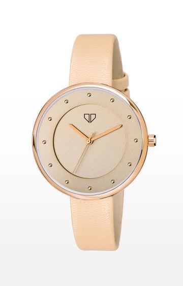 Walrus   Cream Venice III Analog Function Premium Quality Trendy Watch