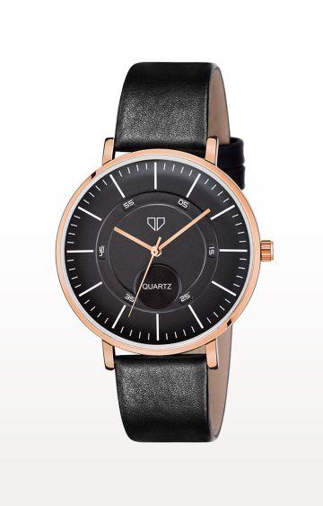 Walrus   Black Venice IV Analog Function Premium Quality Trendy Watch