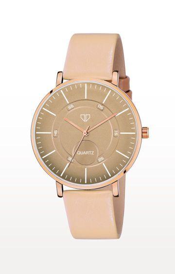 Walrus   Beige Venice IV Analog Function Premium Quality Trendy Watch
