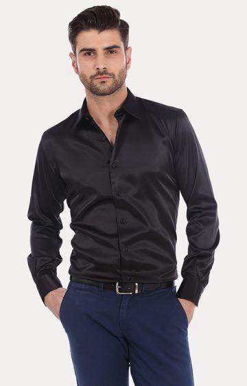 Basics | Black Solid Formal Shirt