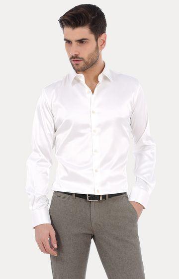 Basics | Ecru Solid Formal Shirt