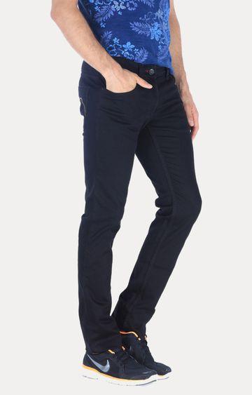 Basics   Black Solid Straight Jeans
