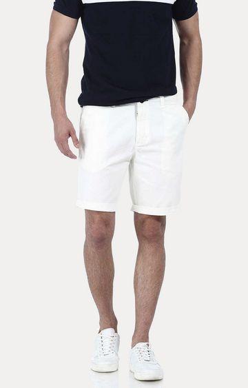 Basics | White Solid Shorts