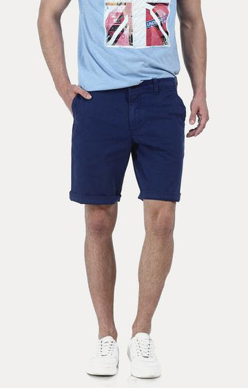 Basics | Navy Solid Shorts