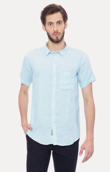 Basics | Aqua Melange Casual Shirt