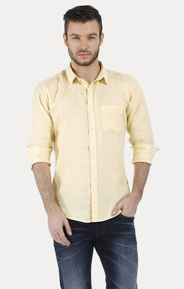 Basics | Yellow Melange Casual Shirt