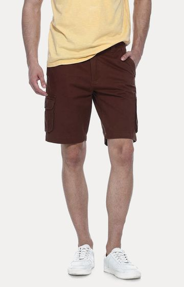 Basics | Dark Brown Solid Shorts