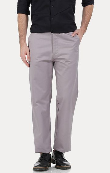 Basics | Grey Straight Chinos