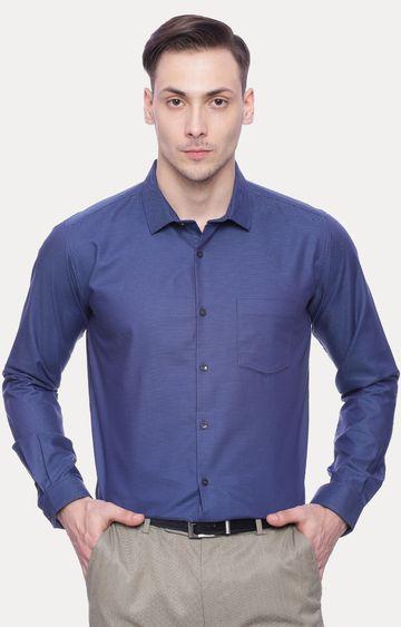 Basics | Blue Melange Formal Shirt