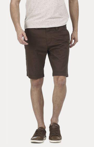 Basics | Dark Brown Solid Shorts