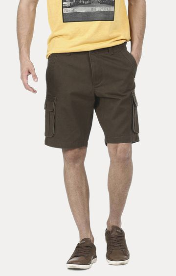 Basics | Dark Green Solid Shorts