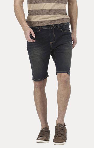 Basics | Navy Printed Shorts