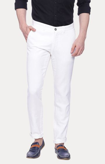 Basics | White Straight Chinos