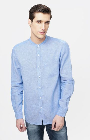 Basics | Blue Melange Casual Shirt