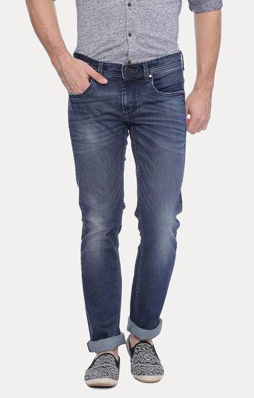 Basics   Navy Straight Jeans