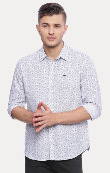 Basics | White Printed Casual Shirt