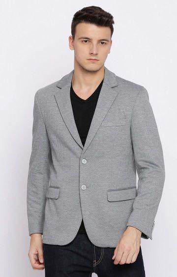 Basics | Grey Melange Blazer