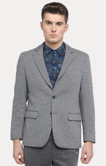 Basics | Light Grey Checked Blazer