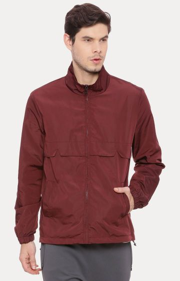 Basics | Maroon Solid Jacket