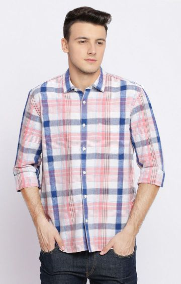Basics | Pink and Blue Checked Casual Shirt