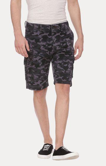 Basics | Grey and Black Camouflage Shorts