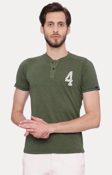 Basics | Green Melange T-Shirt