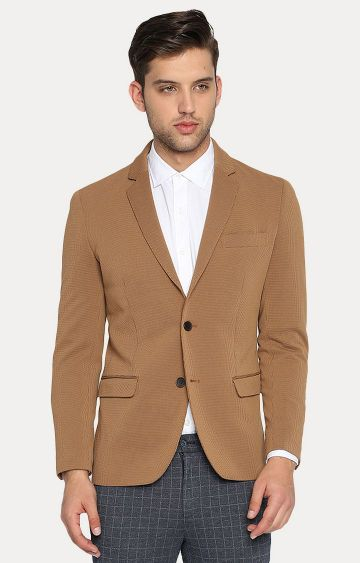 Basics | Mid Brown Solid Blazer