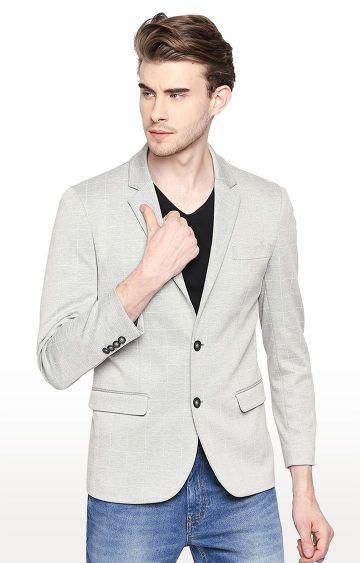 Basics | Grey Checked Blazer