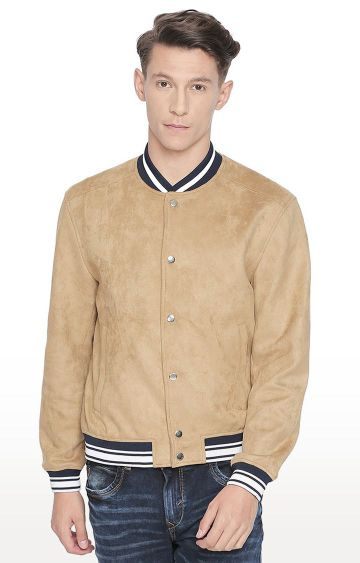 Basics | Beige Solid Jacket