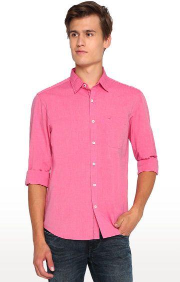 Basics | Pink Solid Casual Shirt