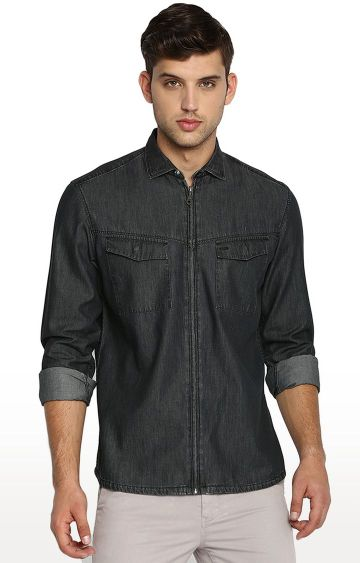 Basics | Black Solid Casual Shirt