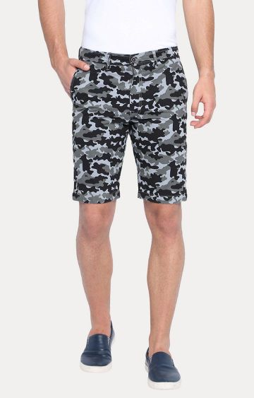 Basics | Black Printed Shorts
