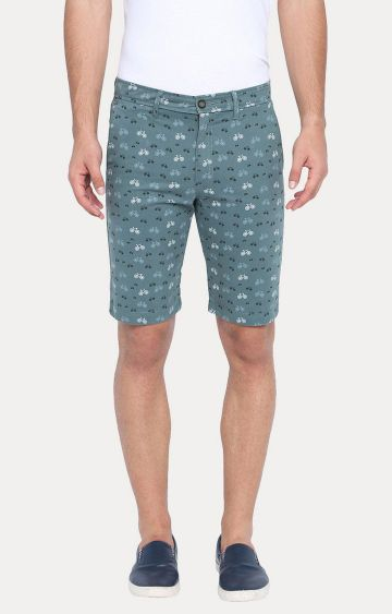 Basics | Teal Printed Shorts