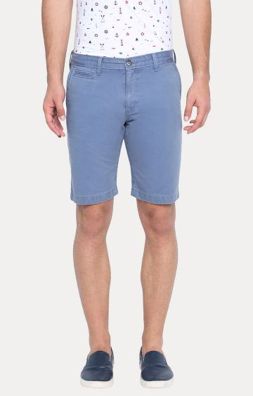 Basics | Blue Solid Shorts