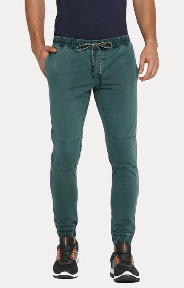 Basics | Green Solid Joggers