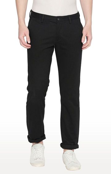 Basics | Black Tapered Chinos