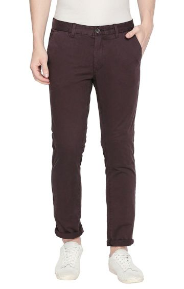 Basics | Brown Tapered Chinos