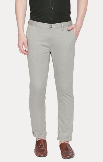Basics | Grey Tapered Chinos
