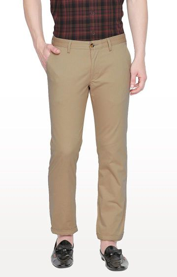 Basics | Beige Tapered Chinos