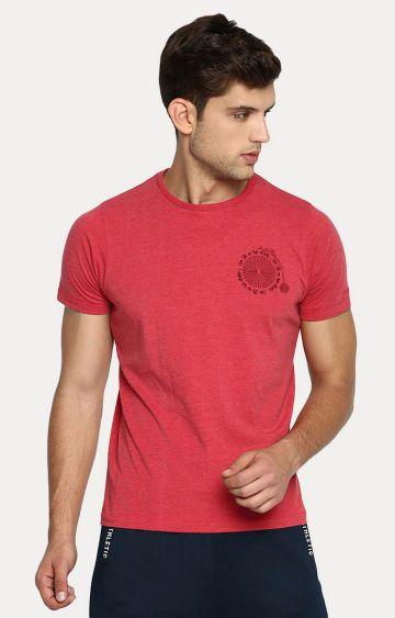 Basics | Red Solid T-Shirt
