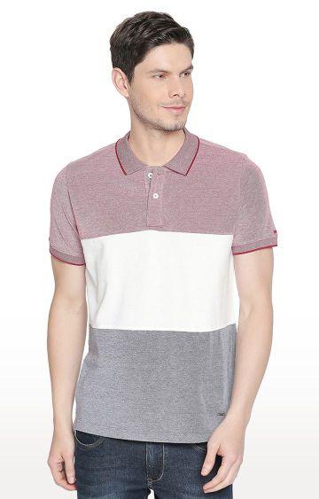 Basics | Multicoloured Colourblock Polo T-Shirt