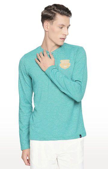 Basics | Turquoise Solid T-Shirt
