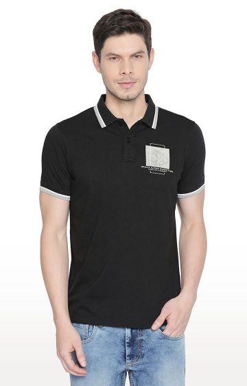 Basics | Charcoal Solid Polo T-Shirt