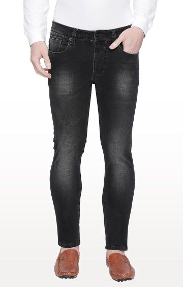 Basics | Black Solid Skinny Fit Jeans