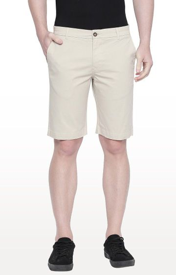 Basics | Ecru Solid Shorts