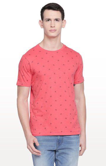 Basics | Coral Printed T-Shirt
