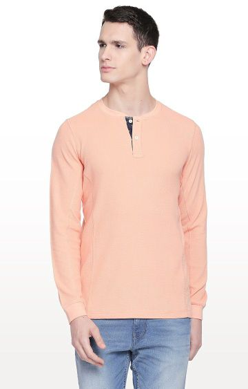 Basics | Peach Solid T-Shirt