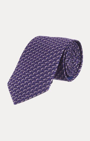 SATYA PAUL | Purple Printed Tie