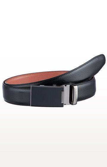 SATYA PAUL | Black and Tan Leather Reversible Belt