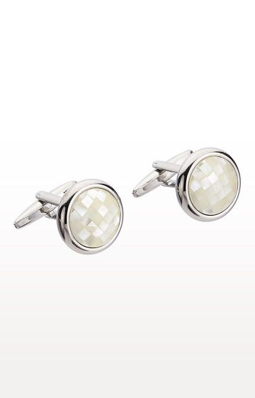 SATYA PAUL | Ivory Metal Cufflinks